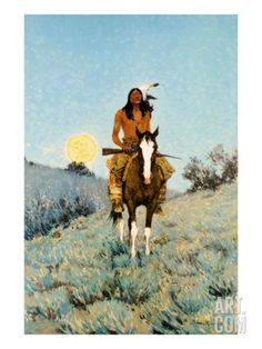 The Outlier 1909 Art Print by Frederic Sackrider Remington at Art.com