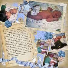 Resultado de imagen para baby boy scrapbook pages