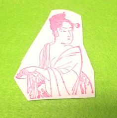 Asian Nude rubber stamp lady woman women nudes risque art stamps unmounted dies