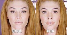 No lip injections needed. #LipstickTutorial Le Contouring, Contour Makeup, Lip Makeup, Makeup Tips, Makeup Ideas, Beauty Makeup, Big Lips Tutorial, Lipstick Tutorial, Concealer