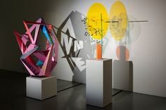 Tobias Rehberger | Pilar Corrias - Untitled, 2011 Wood, paint, motor photoprints 2 parts