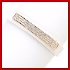 🚨Clearance🚨 White Faux Leather Pave Bracelet! ✨Beautiful White Faux Leather Pave Bracelet! These Bracelets are so pretty with a band of glass crystals set in a golden display bar. They are Nickel & Lead Free! They are also adjustable with a snap closure! Get one of these beauties today!✨ T&J Designs Jewelry Bracelets