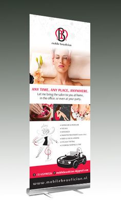 The Mobile Beauticians' Roll-up Banner