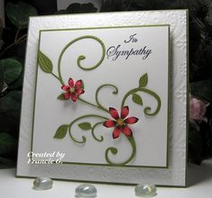 Floral Sympathy by Francie G. - Cards and Paper Crafts at Splitcoaststampers