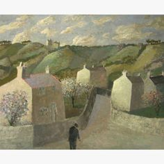 'Cornish Landscape Spring' by Nicholas Turner RWA (oil on board)