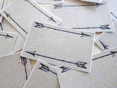 Label Stickers  Vintage Arrow  Set of 8 by HappyAugust on Etsy