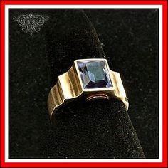 Antique Art Deco 10K Gold Amethyst Mens Ring Size 10   eBay