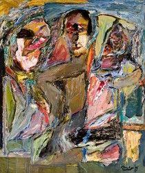 Harold Klunder, Landscape (Self-Portrait VI), oil on canvas, x cm. Collection of the Leonard & Bina Ellen Art Gallery, Concordia University. Concordia University, Canadian Artists, Oil On Canvas, Abstract Art, Art Gallery, Portrait, Drawings, Prints, Faces