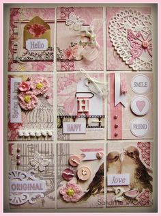 """Pocket letter"" pink and white"