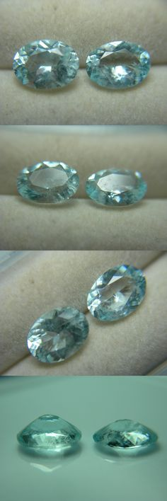 Beryl 110789: 2 Rare Stoneham Maine Aquamarine Gems Natural Untreated Aqua Blue Usa Gemstone -> BUY IT NOW ONLY: $58.49 on eBay!
