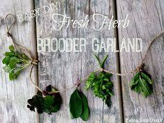 Easy DIY Fresh Herb Chick Brooder Garland ~ Fresh Eggs Daily