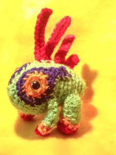 baby MURLOC world of warcraft Amigurumi crochet by SquidFarts