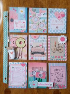 cute little things Project Life Scrapbook, Project Life Cards, Pocket Pal, Pocket Cards, Atc Cards, Journal Cards, Pocket Scrapbooking, Scrapbook Pages, Letter A Crafts