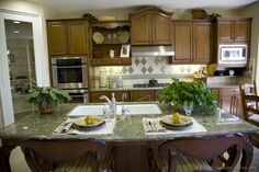 Pictures of Kitchens - Traditional - Medium Wood Cabinets, Brown (Kitchen Wood Cabinets, Kitchen Cabinets, Brown Kitchens, Kitchen Pictures, Dream Kitchens, Countertops, Kitchen Design, Design Ideas, Traditional