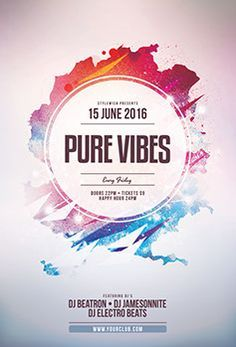 Buy Pure Vibes CD Cover Artwork by styleWish on GraphicRiver. Pure Vibes CD Cover Artwork This CD cover template is designed for a band, DJ or music label to promote a new album . Pop Internacional, Cd Cover Template, Halloween Flyer, Christmas Flyer, Event Poster Design, Flyer Design Templates, Graphic Design Layouts, Party Flyer, Illustrations And Posters