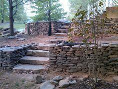 Tennessee Fieldstone steppers and medium veneer
