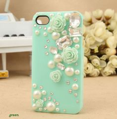 bling Kawaii pig iphone 5 case iphone 4 case by casecase2014, $7.99