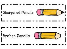 Great idea for next to the classroom pencil sharpener.