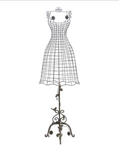 Style ancien mannequin buste de couture en fer forg sur - Mannequin coloriage ...