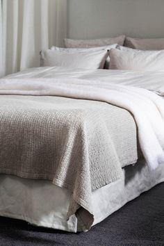 Himla Sengeteppe Cornelia i krinklet bomull 260x260 Bedspread, Blanket, Bomull, Furniture, Home Decor, Bedrooms, Flat, Space, Quilt