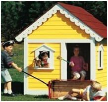 12 Free DIY Playhouse Plans – Thrill your favorite child with a new playhouse that you build yourself. Choose from a variety designs and then download free plans and building guides. BirdsAndBlooms.com Photo: Easy-To-Build Playhouse