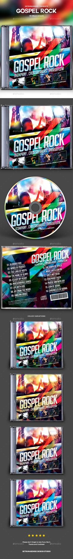 Gospel Rock CD Album Artwork - #CD & DVD Artwork Print Templates
