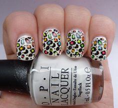 Leopard print mani (again) by barbastark0, via Flickr