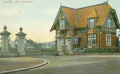 Durham, Stockton on Tees Park Entrance 1905