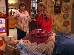 Dan and Roseanne scaring the crap out of their snotty neighbor Cathy Bowman  (She's got damn good bladder control though)