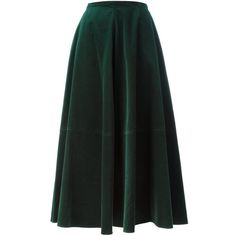 Mm6 Maison Margiela velvet maxi skirt (2.280 RON) ❤ liked on Polyvore featuring skirts, green, floor length skirts, velvet skirt, long skirts, maxi skirt and green maxi skirt