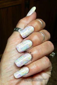Watercolor Nails in White #polish #nails #nailart - bellashoot.com