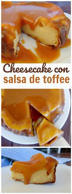 Tarta de queso al horno con salsa de toffee - Tasty details
