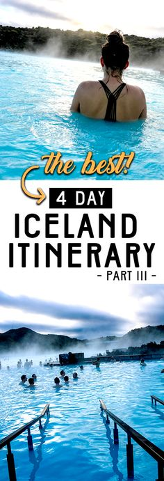 ICELAND TRAVEL ITINERARY | (PART 3) THE BLUE LAGOON The best 4 Day itinerary for traveling to Iceland in the winter. This is a trip of a lifetime! If you only have limited time to explore the nature of Iceland then this is the best Iceland travel guide for a short stay. Click through right now to read the entire post!