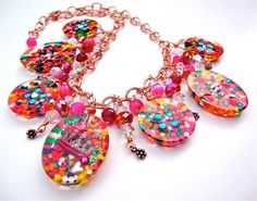 Resin candy charm necklace - candy necklace statement necklace FEATURED in Seventeen magazine - kawaii necklace by Sparkle City Jewelry