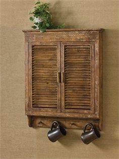 """Do you have empty space on your kitchen wall? This beautiful cabinet will add that rustic charm! Dimensions: 32""""H x 26""""W x 5""""D Material: Wood"""