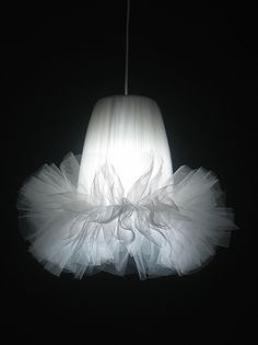 Tutu lamp. I could so make this for her