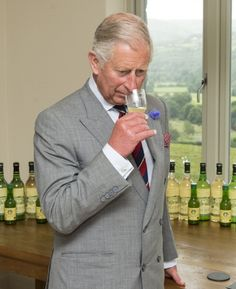 Prince Charles, Prince of Wales visits a local butcher and general store after visiting the family-run Welsh Farmhouse Apple Juice company and tasting samples of organic apple juice, 03.07.2014 in Crickhowell, UK