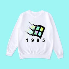Holographic Aesthetic Vaporwave Windows 1995 Art American Apparel pastel sweatshirt by koko, ®kokopie Vaporwave Clothing, Vaporwave Fashion, Kawaii Fashion, 90s Fashion, Fashion Outfits, Dark Fashion, Street Fashion, Aesthetic Fashion, Aesthetic Clothes