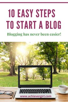 Blogging is a way to earn money online and many are successfully making money from their blog. It's never been easier to start a blog than right now! These 10 easy steps will show you how to start a blog that you can have live in a matter of minutes and start blogging today.  #achievergirl #howtostartablog #startablog #blogging #startblogging #makemoneyonline #bluehost Ways To Earn Money, Earn Money Online, Make Money Blogging, Make Money From Home, How To Make Money, Start A Business From Home, Start Online Business, Online Entrepreneur, Blogging For Beginners