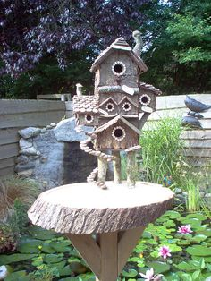 Vogelhuisje/ birdhouse, this is made all from natural stuf. Made by Anneke