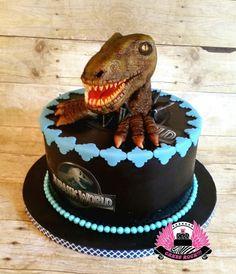 RAWR!!!  Jurassic World Velociraptor Cake - Cake by Cakes ROCK!!!
