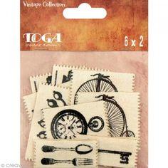 Etiqueta de tela Toga - Vintage - 12 unidades - Fotografía n°1