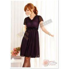 Elegant Beauty Black-Over-Purple Dress $69.90 at www.Glamorazzi.com.au