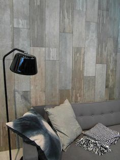 Creative Grunge Interior Walls, the latest in interior design using Laminate flooring on the walls. it looks great