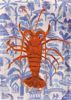Lobster Drawing, Lobster Art, Illustration Inspiration, Graphic Design Illustration, Illustration Art, Graphic Prints, Art Prints, Lobsters, Inspirational Wallpapers