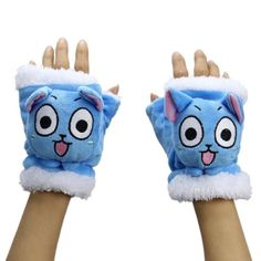 3D-Cosplay-Fairy-Tail-Natsu-Dragneel-Lucy-Happy-Cat-Plush-Warm-Gloves-Costume
