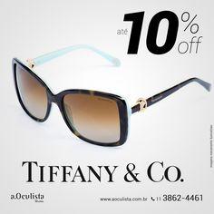 Óculos de Sol Tiffany&Co. com até 10% de desconto, corre!  Compre pelo site em até 10x Sem Juros e Frete Grátis nas compras acima de R$400,00 reais.  www.aoculista.com.br/tiffany-co  #aoculista #Tiffany&Co #glasses #eyeglasses #óculos #óculosdegrau