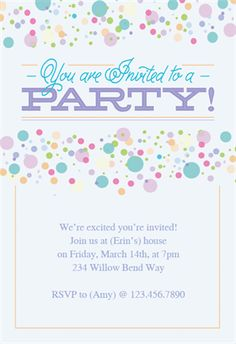 Free Printable Celebrate With Us Invitation Great site for