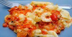 Pasta con Gambas y Salsa Alfredo. Receta                        Asopaipas. Recetas de Cocina Casera                                                               .