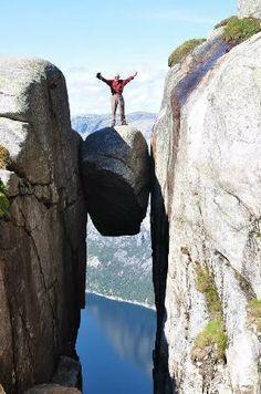 Kjerag: on top, fantastic feeling in Norway